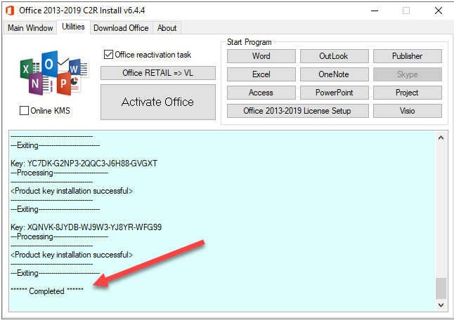 Activate Office 2016 with KMS Office 2016