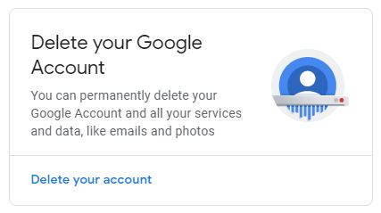 Delete Google Accounts and Gmail Forever