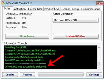How to Activate Office 2010 Using the Toolkit