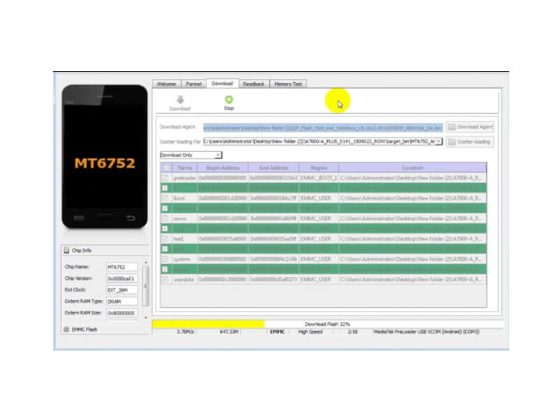 How to Flash Oppo Neo 7 A33W using SP FlashTool