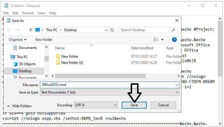 How to activate Office 2010 with a batch file
