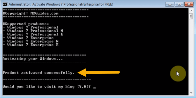 Method 1. Activating Windows 7 With Batch Files