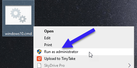 Method 2—Activate Windows 10 with a batch file