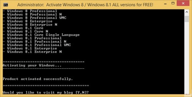Method 2 Activating Windows 8 Windows 8 with a batch file