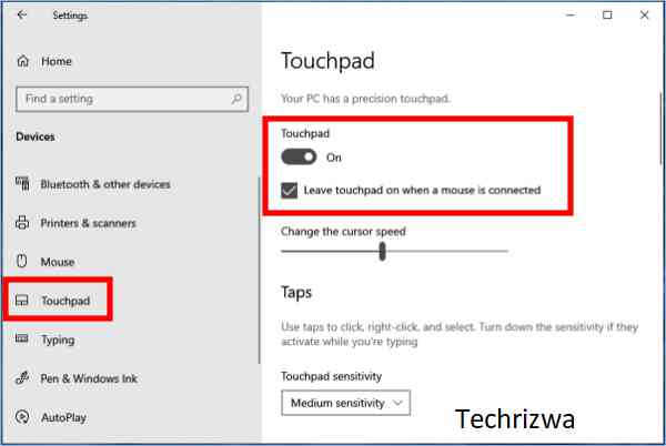 How to fix laptop touchpad not working