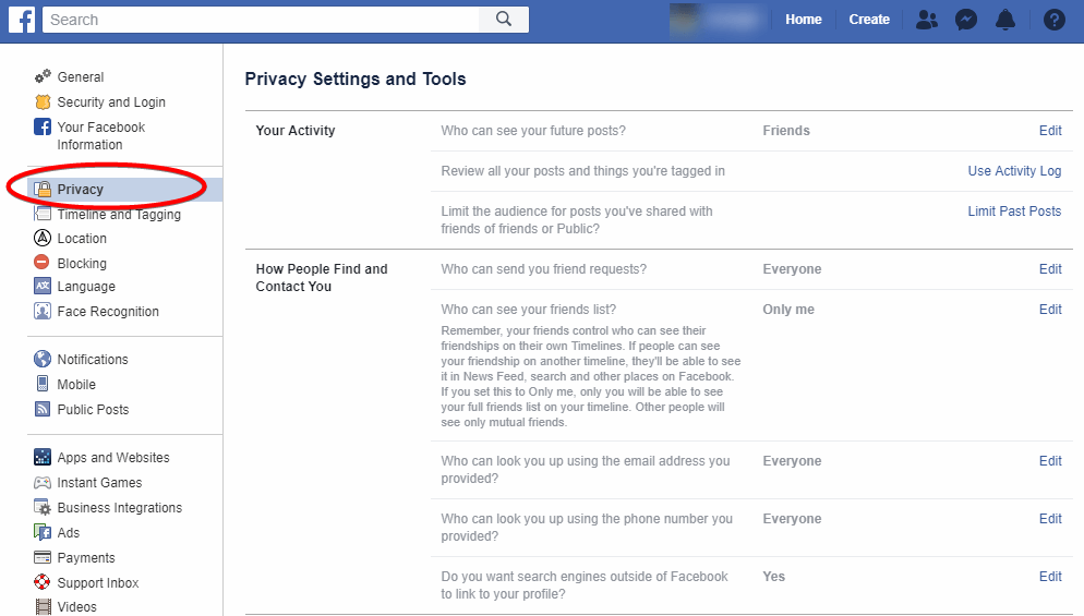 Make Good Use of Facebook's Privacy Settings