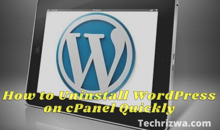How to Uninstall WordPress on cPanel Quickly