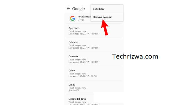 Reconnect Google account