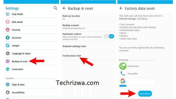 Software reset your mobile