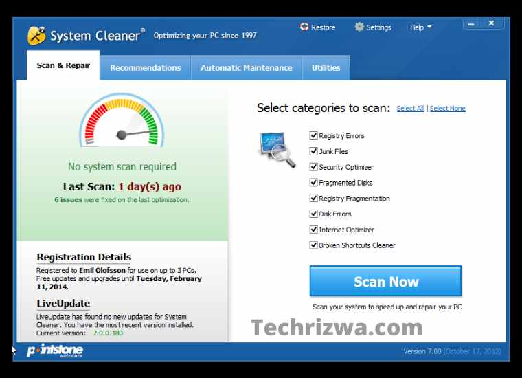 System Cleaner (Windows)